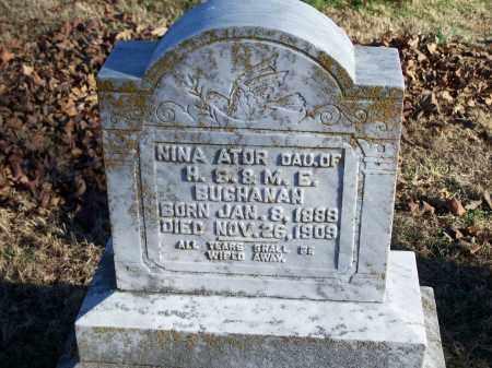 BUCHANAN, NINA ATOR - Washington County, Arkansas   NINA ATOR BUCHANAN - Arkansas Gravestone Photos