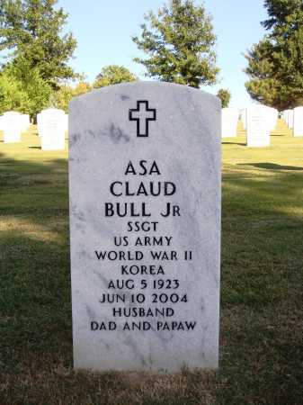 BULL (VETERAN 2 WARS), ASA CLAUD JR - Washington County, Arkansas | ASA CLAUD JR BULL (VETERAN 2 WARS) - Arkansas Gravestone Photos