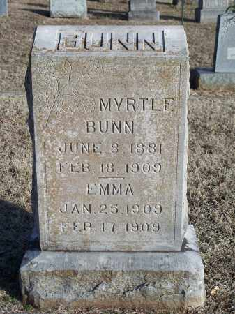 BUNN, EMMA - Washington County, Arkansas | EMMA BUNN - Arkansas Gravestone Photos