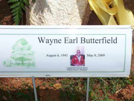 BUTTERFIELD, WAYNE EARL - Washington County, Arkansas | WAYNE EARL BUTTERFIELD - Arkansas Gravestone Photos
