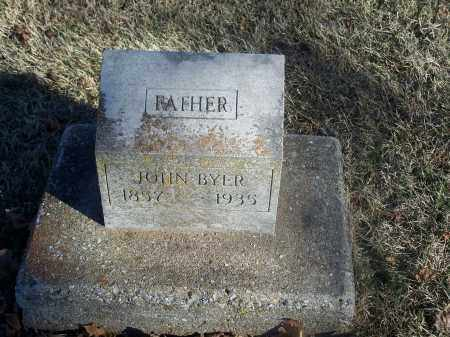 BYER, JOHN - Washington County, Arkansas | JOHN BYER - Arkansas Gravestone Photos