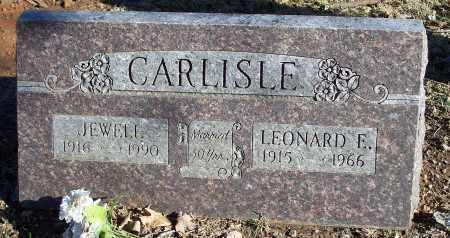 CARLISLE, LEONARD E. - Washington County, Arkansas | LEONARD E. CARLISLE - Arkansas Gravestone Photos