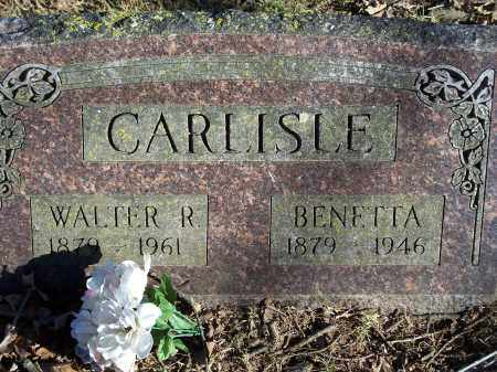CARLISLE, WALTER R. - Washington County, Arkansas | WALTER R. CARLISLE - Arkansas Gravestone Photos