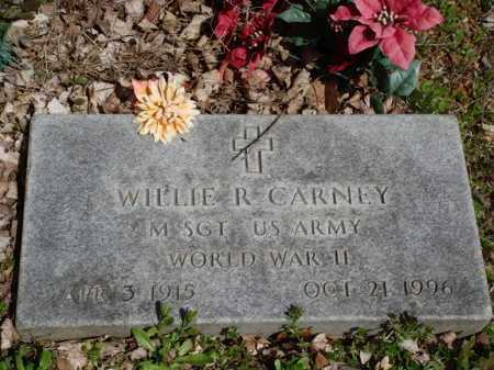 CARNEY  (VETERAN WWII), WILLIE R. - Washington County, Arkansas | WILLIE R. CARNEY  (VETERAN WWII) - Arkansas Gravestone Photos