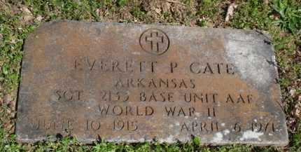 CATE  (VETERAN WWII), EVERETT P. - Washington County, Arkansas | EVERETT P. CATE  (VETERAN WWII) - Arkansas Gravestone Photos