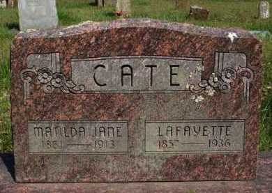 CATE, MATILDA JANE - Washington County, Arkansas | MATILDA JANE CATE - Arkansas Gravestone Photos