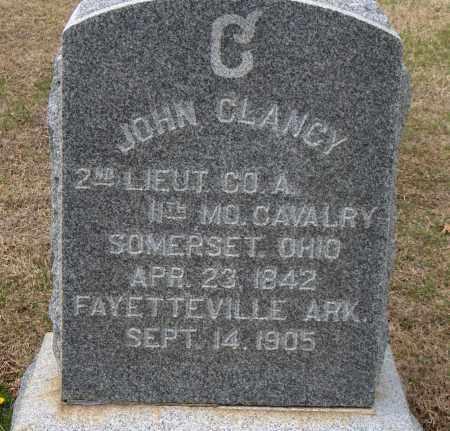 CLANCY (VETERAN UNION), JOHN - Washington County, Arkansas | JOHN CLANCY (VETERAN UNION) - Arkansas Gravestone Photos