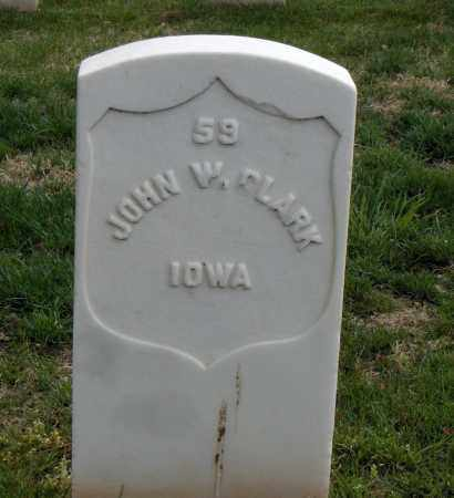 CLARK (VETERAN UNION), JOHN W - Washington County, Arkansas | JOHN W CLARK (VETERAN UNION) - Arkansas Gravestone Photos