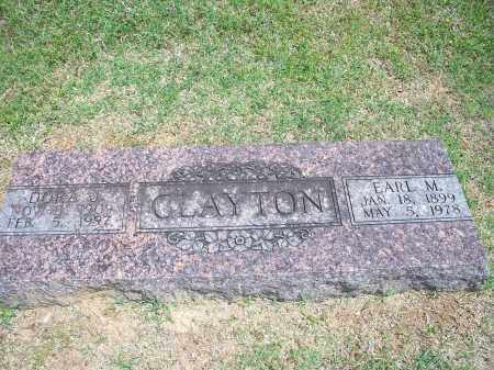 CLAYTON, EARL M. - Washington County, Arkansas | EARL M. CLAYTON - Arkansas Gravestone Photos