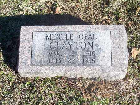CLAYTON, MYRTLE OPAL - Washington County, Arkansas | MYRTLE OPAL CLAYTON - Arkansas Gravestone Photos