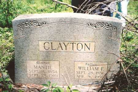 CLAYTON, WILLIAM F - Washington County, Arkansas | WILLIAM F CLAYTON - Arkansas Gravestone Photos
