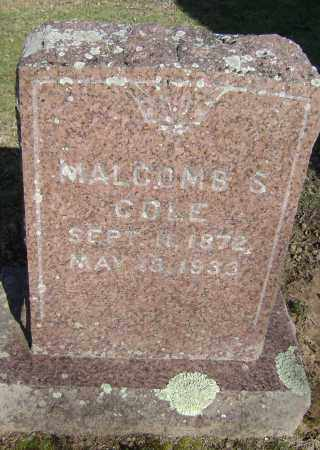 COLE, MALCOMB S. - Washington County, Arkansas | MALCOMB S. COLE - Arkansas Gravestone Photos