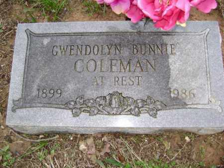 COLEMAN, GWENDOLYN BUNNIE - Washington County, Arkansas | GWENDOLYN BUNNIE COLEMAN - Arkansas Gravestone Photos