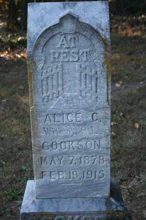 COOKSON, ALICE C. - Washington County, Arkansas | ALICE C. COOKSON - Arkansas Gravestone Photos