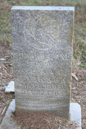 COOKSON, EDWARD EARL - Washington County, Arkansas | EDWARD EARL COOKSON - Arkansas Gravestone Photos
