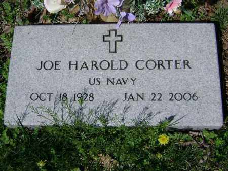 CORTER  (VETERAN), JOE HAROLD - Washington County, Arkansas | JOE HAROLD CORTER  (VETERAN) - Arkansas Gravestone Photos