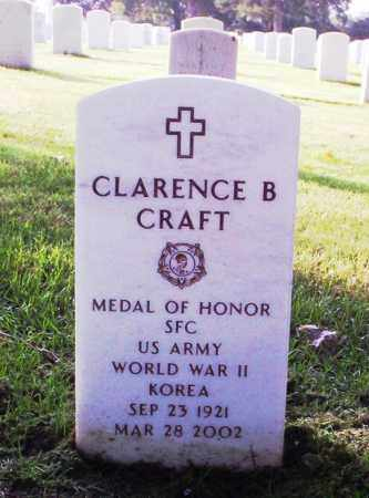 CRAFT (VETERAN 2 WARS, MOH), CLARENCE B - Washington County, Arkansas | CLARENCE B CRAFT (VETERAN 2 WARS, MOH) - Arkansas Gravestone Photos