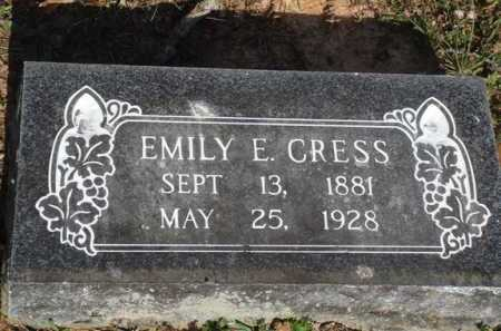 CRESS, EMILY E - Washington County, Arkansas | EMILY E CRESS - Arkansas Gravestone Photos