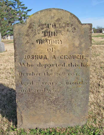 CROUCH, JOSHUA A - Washington County, Arkansas | JOSHUA A CROUCH - Arkansas Gravestone Photos
