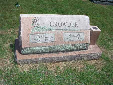 CROWDER, MARION - Washington County, Arkansas | MARION CROWDER - Arkansas Gravestone Photos