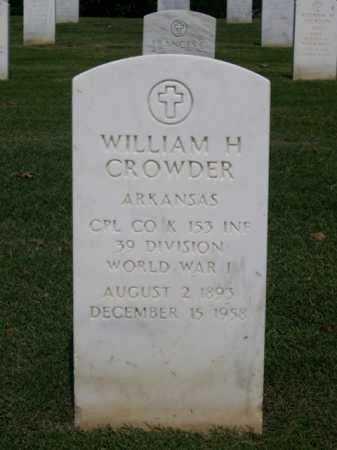 CROWDER (VETERAN WWI), WILLIAM H. - Washington County, Arkansas | WILLIAM H. CROWDER (VETERAN WWI) - Arkansas Gravestone Photos