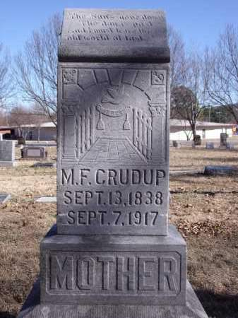CRUDUP, M.F. - Washington County, Arkansas | M.F. CRUDUP - Arkansas Gravestone Photos