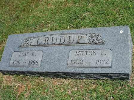 CRUDUP, MILTON E. - Washington County, Arkansas | MILTON E. CRUDUP - Arkansas Gravestone Photos