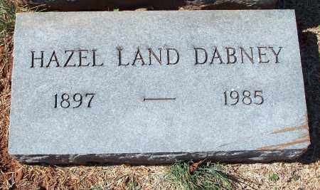 LAND DABNEY, HAZEL - Washington County, Arkansas | HAZEL LAND DABNEY - Arkansas Gravestone Photos