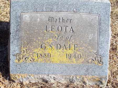 DALE, LEOTA - Washington County, Arkansas | LEOTA DALE - Arkansas Gravestone Photos