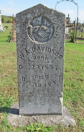 DAVIDSON, W. A. - Washington County, Arkansas | W. A. DAVIDSON - Arkansas Gravestone Photos
