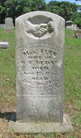 DEAVER, ELEN - Washington County, Arkansas | ELEN DEAVER - Arkansas Gravestone Photos