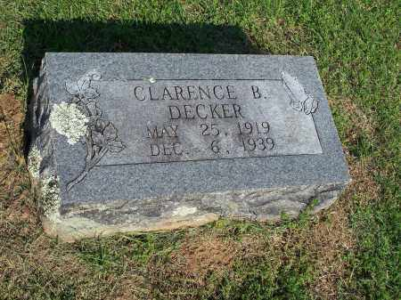 DECKER, CLARENCE B. - Washington County, Arkansas | CLARENCE B. DECKER - Arkansas Gravestone Photos
