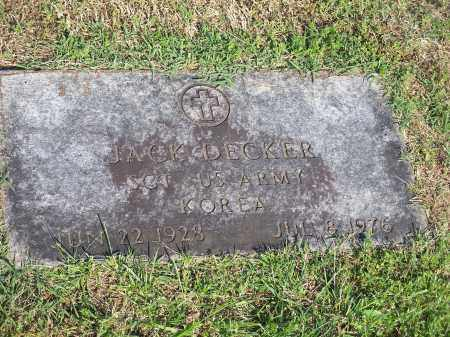 DECKER (VETERAN KOR), JACK - Washington County, Arkansas | JACK DECKER (VETERAN KOR) - Arkansas Gravestone Photos