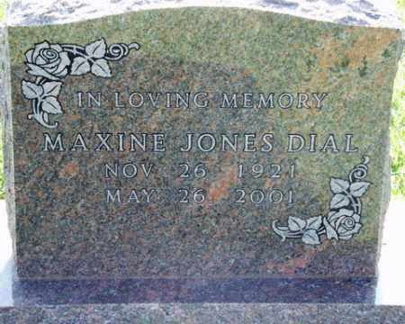 JONES DIAL, MAXINE - Washington County, Arkansas | MAXINE JONES DIAL - Arkansas Gravestone Photos