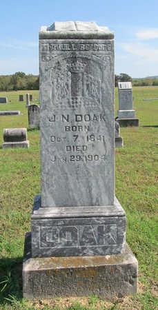 DOAK, J. N. - Washington County, Arkansas   J. N. DOAK - Arkansas Gravestone Photos