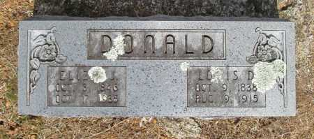 DONALD, LOUIS D. - Washington County, Arkansas | LOUIS D. DONALD - Arkansas Gravestone Photos