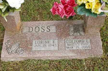DOSS, COFFORD E. - Washington County, Arkansas | COFFORD E. DOSS - Arkansas Gravestone Photos