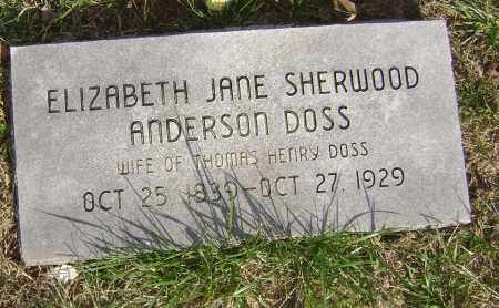 ANDERSON, ELIZABETH JANE - Washington County, Arkansas | ELIZABETH JANE ANDERSON - Arkansas Gravestone Photos