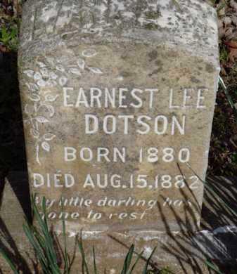 DOTSON, EARNEST LEE - Washington County, Arkansas   EARNEST LEE DOTSON - Arkansas Gravestone Photos