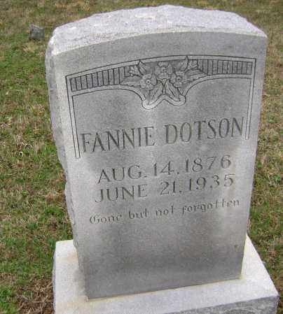 DOTSON, FANNIE - Washington County, Arkansas | FANNIE DOTSON - Arkansas Gravestone Photos