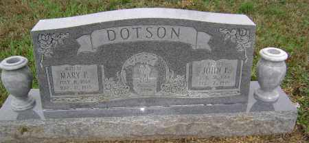 DOTSON, MARY P. - Washington County, Arkansas | MARY P. DOTSON - Arkansas Gravestone Photos