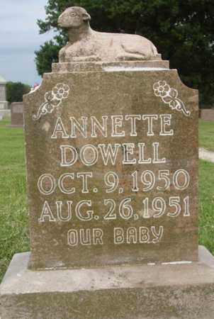 DOWELL, ANNETTE - Washington County, Arkansas | ANNETTE DOWELL - Arkansas Gravestone Photos