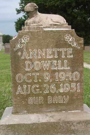DOWELL, ANNETTE - Washington County, Arkansas | ANNETTE DOWELL - Arkansas Gravestone Photos