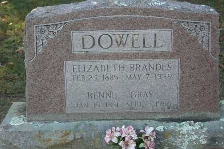 DOWELL, ELIZABETH - Washington County, Arkansas | ELIZABETH DOWELL - Arkansas Gravestone Photos