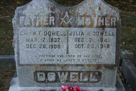 DOWELL (VETERAN), W.F. - Washington County, Arkansas | W.F. DOWELL (VETERAN) - Arkansas Gravestone Photos