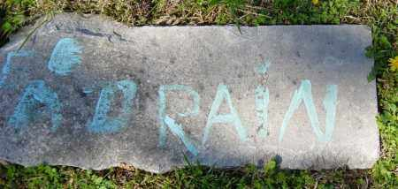 DRAIN, A. - Washington County, Arkansas | A. DRAIN - Arkansas Gravestone Photos