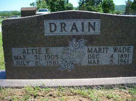 DRAIN, ALTIE E. - Washington County, Arkansas | ALTIE E. DRAIN - Arkansas Gravestone Photos