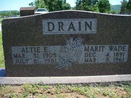 DRAIN, MARIT WADE - Washington County, Arkansas | MARIT WADE DRAIN - Arkansas Gravestone Photos