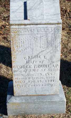 BROOKS DUNLAP, CARRIE L. - Washington County, Arkansas | CARRIE L. BROOKS DUNLAP - Arkansas Gravestone Photos