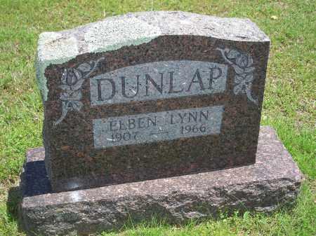 DUNLAP, ELBEN LYNN - Washington County, Arkansas   ELBEN LYNN DUNLAP - Arkansas Gravestone Photos